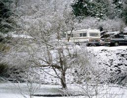 Come per l'inverno una Camper olandese