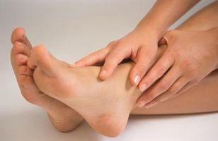 Stretching dei flessori del piede