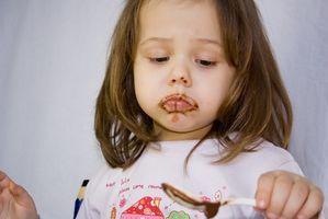 Segni di allergia al cioccolato di un bambino