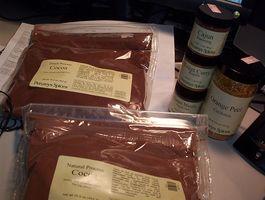 Cacao in polvere Informazioni nutrizionali